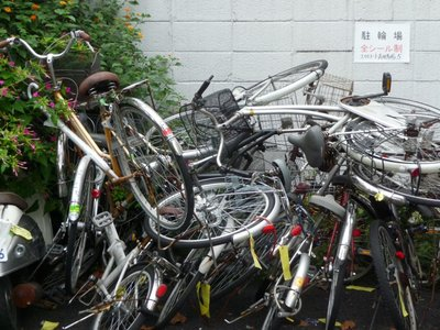 Bicycle Parking in Tokyo, Japan