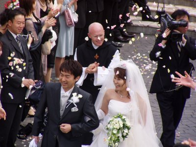 Just Married at Tokyo Bay Wedding Village